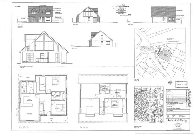 Plans for 4 bedroom house in rear garden
