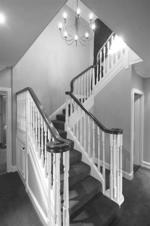 Traditional double banister staircase