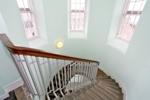 Bright, communal stairwell