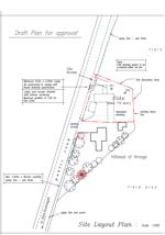 Draft plan of the development plot submitted