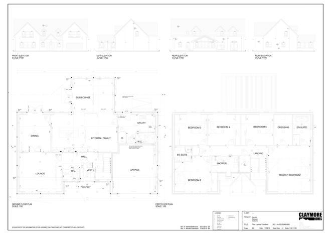 Floor Plans for Plot 4