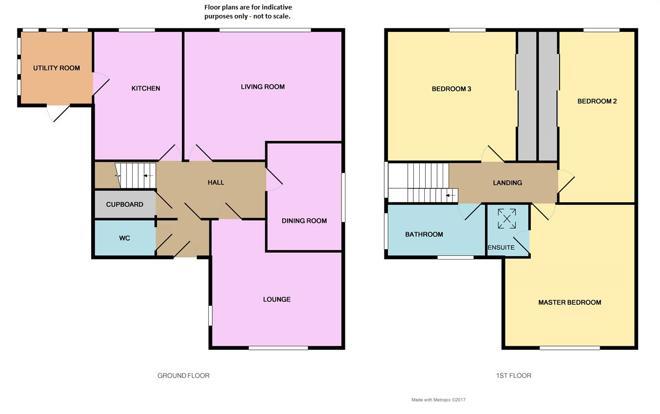 Floor plan - not to scale.