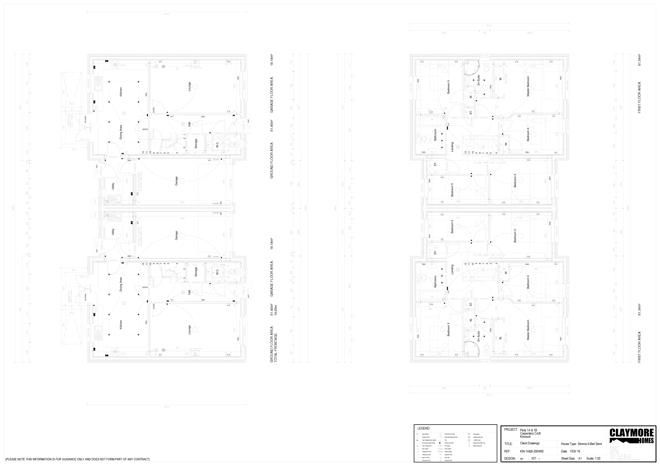 Floor Plans for Plots 1A and 1B