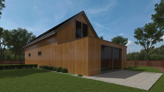 Artists impression of exterior of proposed build