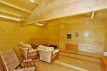 Inside Log Cabin