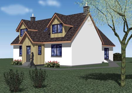 3D Image of front of house