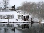 Lake in the snow